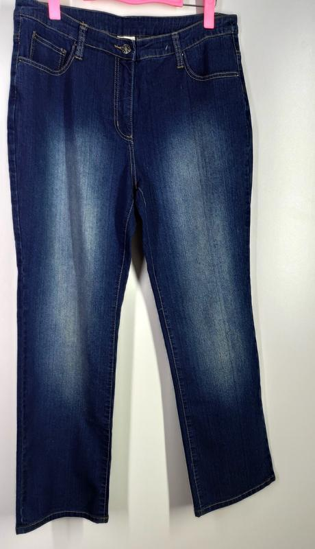 Женские эластичные прямые джинсы размер 50-52 - Фото 4
