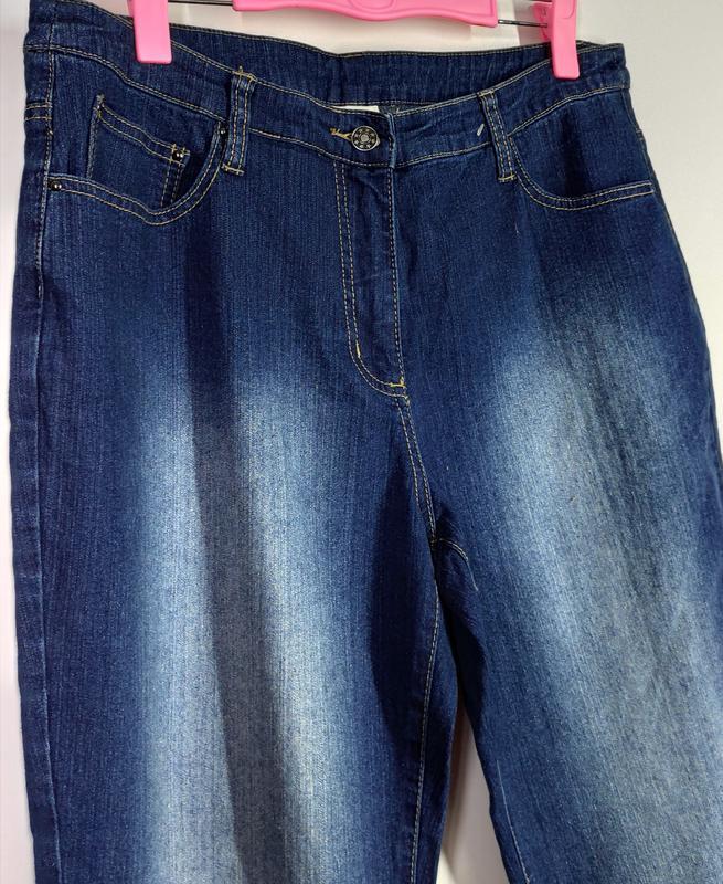 Женские эластичные прямые джинсы размер 50-52 - Фото 5