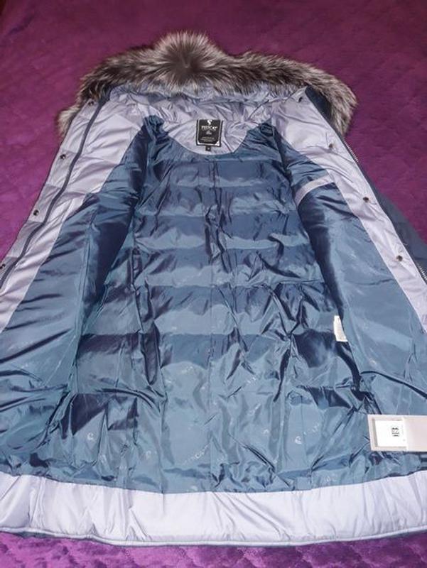 Пуховик куртка с натуральным мехом чернобурки и помпонами новый з - Фото 4