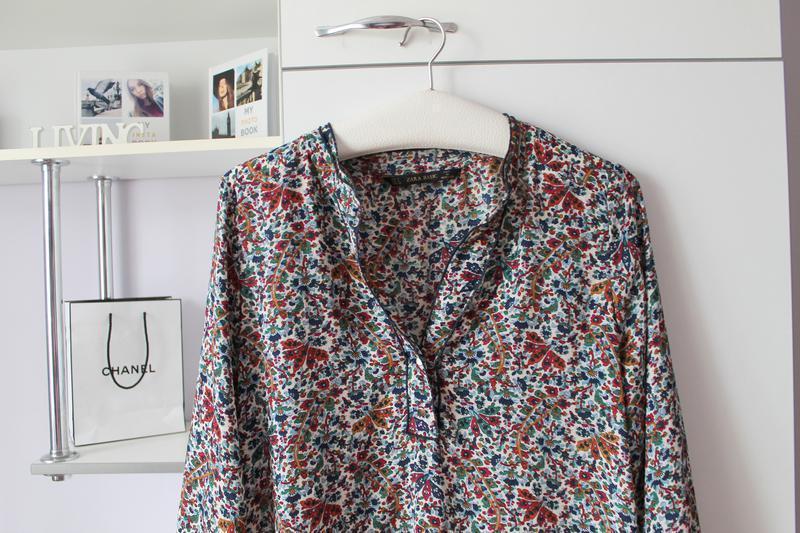 Блуза в цветочный принт от zara - Фото 2