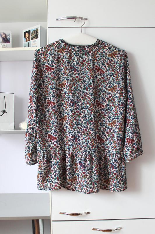 Блуза в цветочный принт от zara - Фото 3