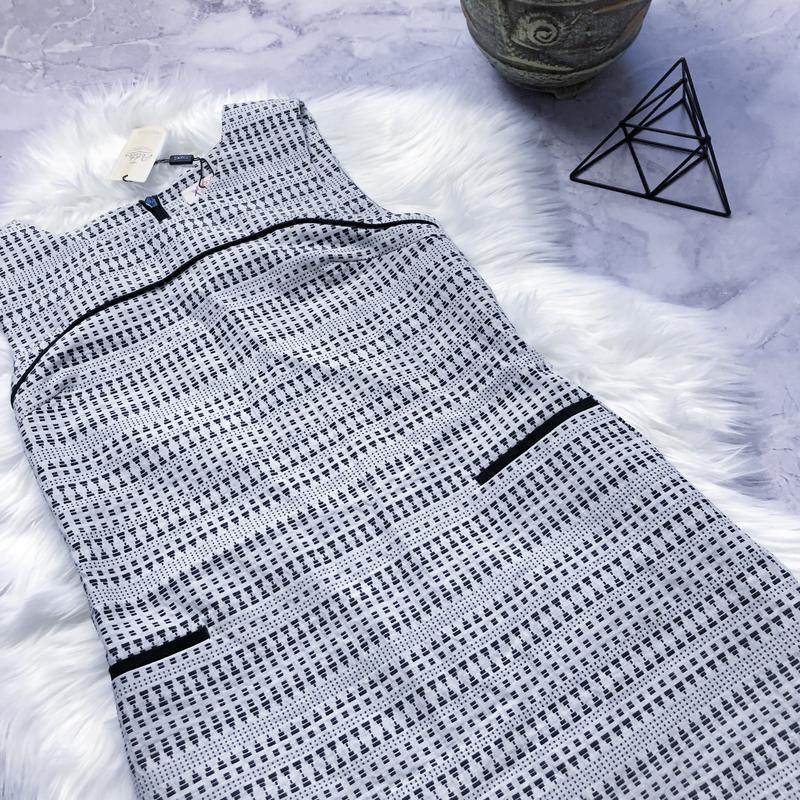 Новое платье с плотной ткани стильный сарафан next - Фото 3