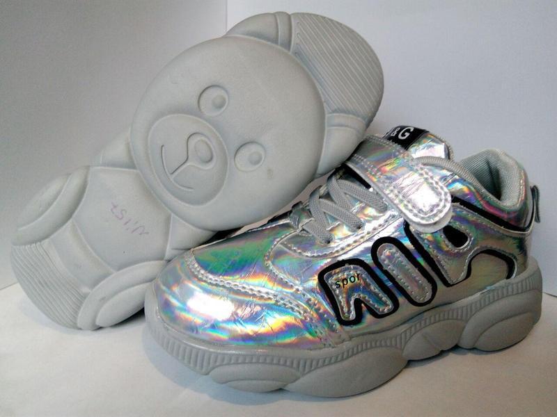 Стильные современные кроссовки для маленьких модниц спортивная... - Фото 2