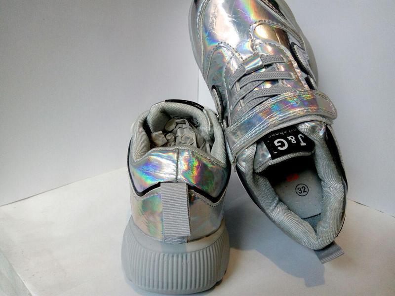 Стильные современные кроссовки для маленьких модниц спортивная... - Фото 3