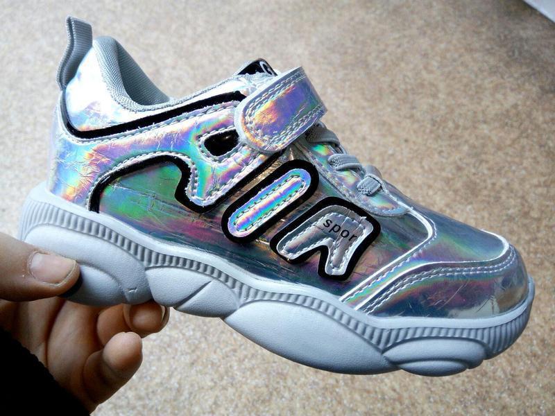 Стильные современные кроссовки для маленьких модниц спортивная... - Фото 5