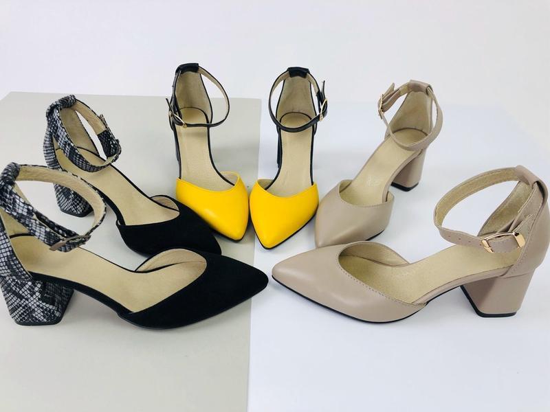 Lux обувь! натуральные кожаные женские босоножки на удобном ка... - Фото 2