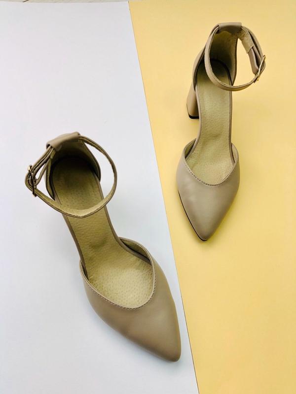 Lux обувь! натуральные кожаные женские босоножки на удобном ка... - Фото 3