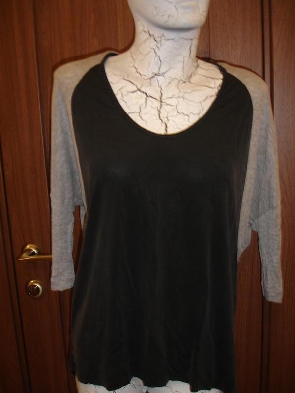 Фирменная от zara стильная блузка реглан на 48-50 размер идеал