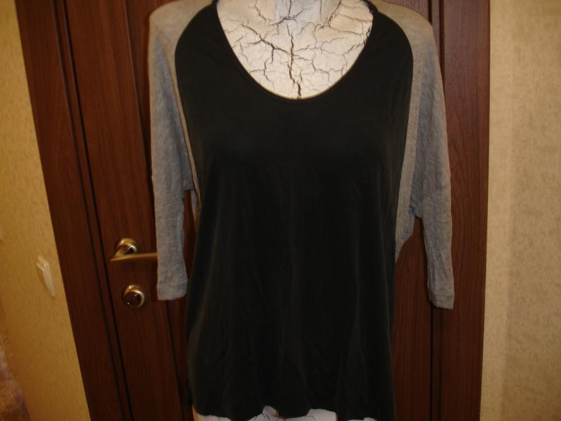 Фирменная от zara стильная блузка реглан на 48-50 размер идеал - Фото 2