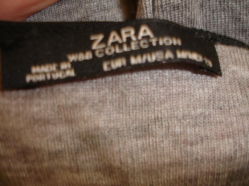 Фирменная от zara стильная блузка реглан на 48-50 размер идеал - Фото 3