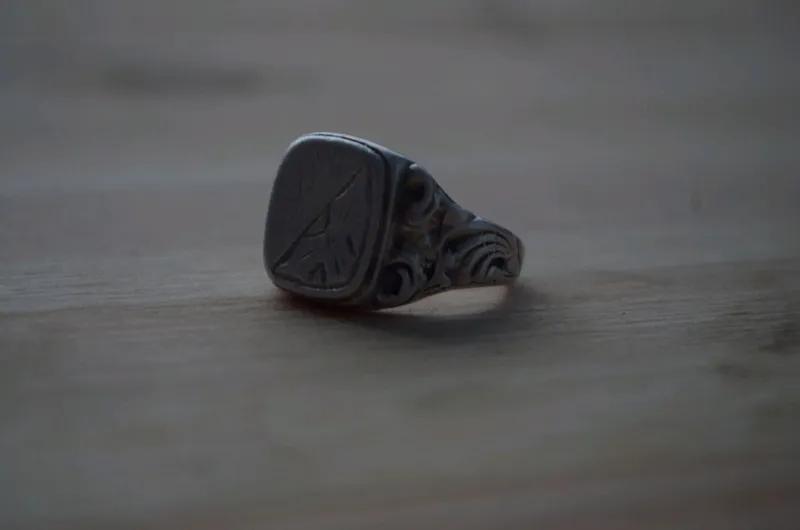 Перстень мужской печатка кольцо серебро - Фото 3