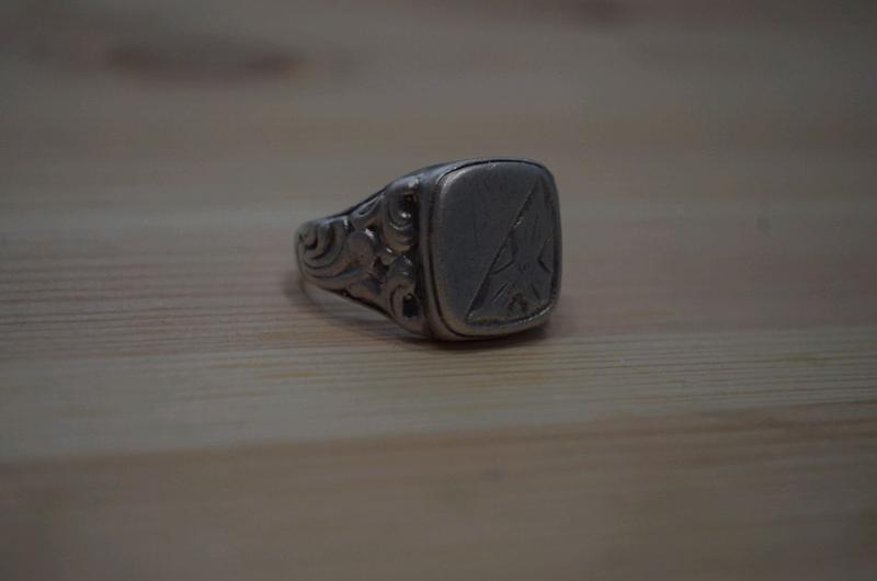 Перстень мужской печатка кольцо серебро - Фото 6