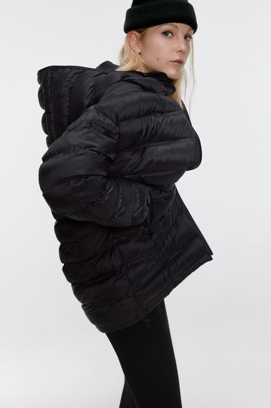 Стёганная длинная куртка от zara - Фото 2