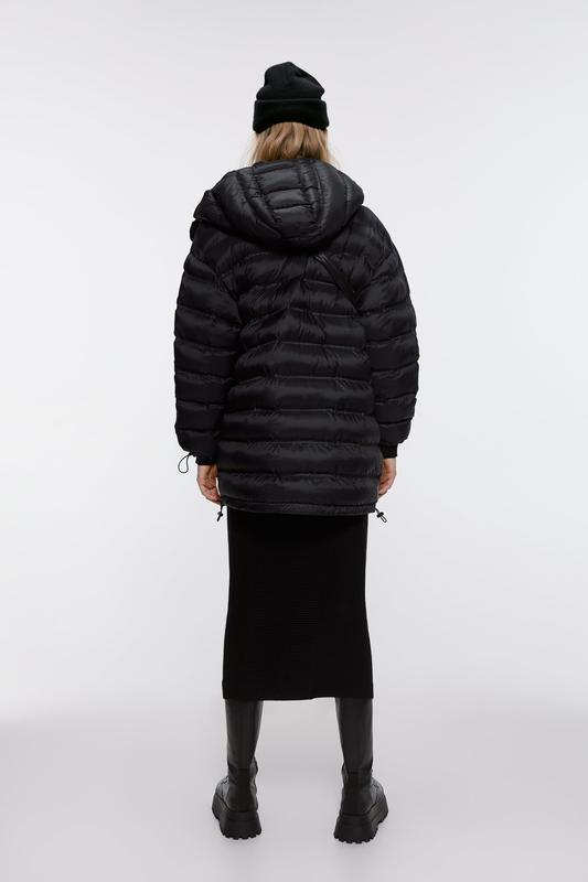 Стёганная длинная куртка от zara - Фото 3