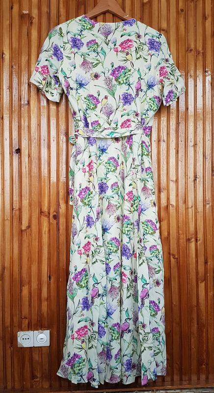 Очень красивое платье миди h&m на запах - Фото 2