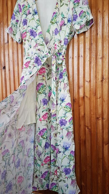 Очень красивое платье миди h&m на запах - Фото 4