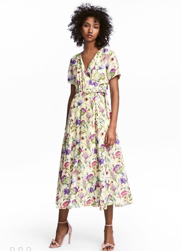 Очень красивое платье миди h&m на запах - Фото 7