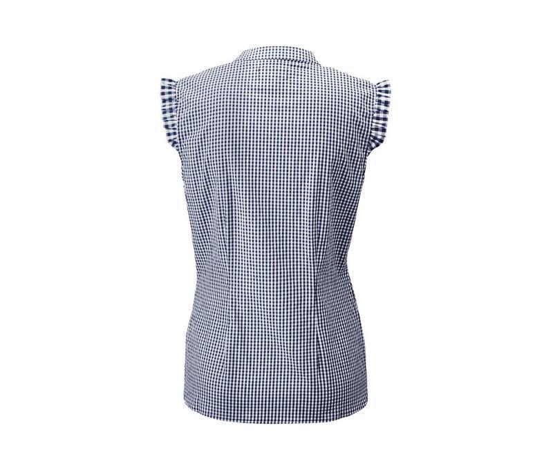 Хлопковая блуза в клетку tcm tchibo - Фото 3