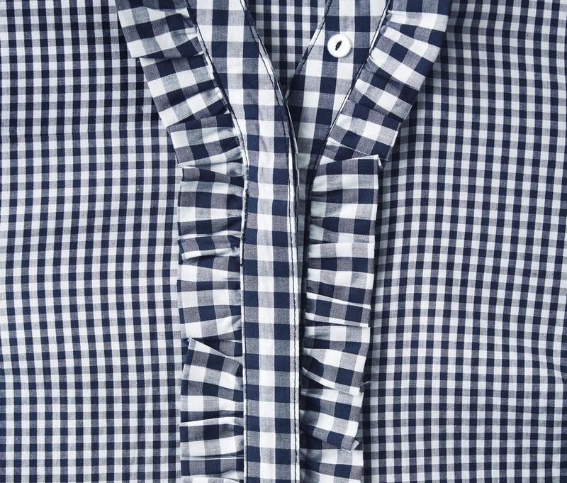 Хлопковая блуза в клетку tcm tchibo - Фото 4