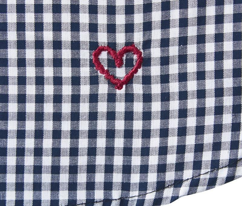 Хлопковая блуза в клетку tcm tchibo - Фото 5