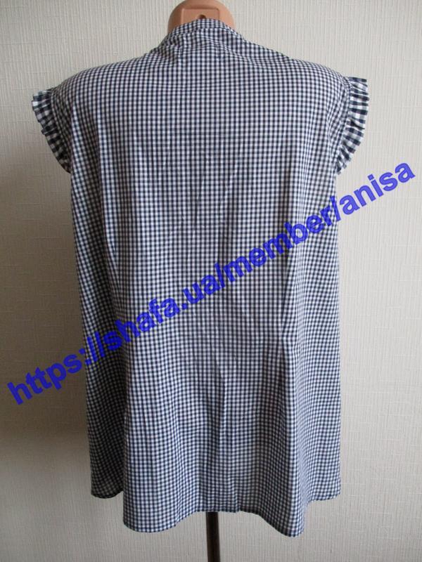 Хлопковая блуза в клетку tcm tchibo - Фото 8