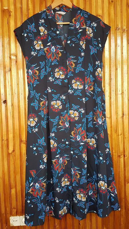 Стильное платье миди h&m на пуговицах - Фото 3