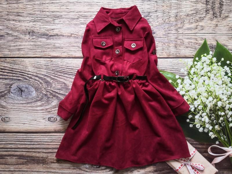 Вельветовое платье для юной красотки!