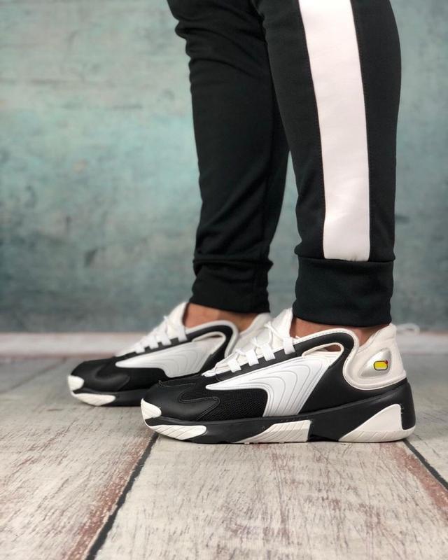 Обувь кроссовки женские black and white - Фото 2