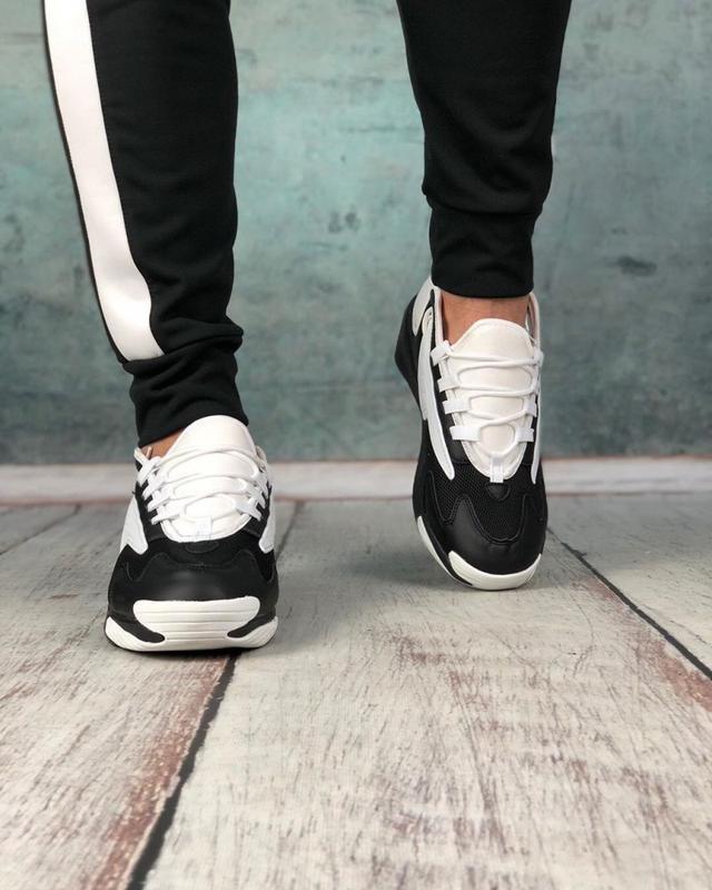 Обувь кроссовки женские black and white - Фото 5
