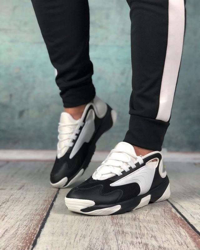 Обувь кроссовки женские black and white - Фото 6
