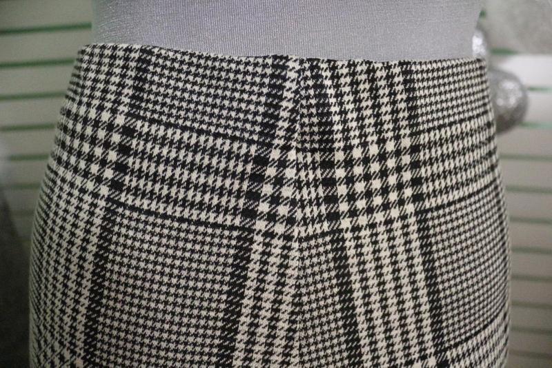 Широкие штаны в гусиную лапку h&m - Фото 3