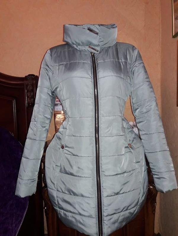 Куртка курточка Деми сезонная пуховик мятного цвета