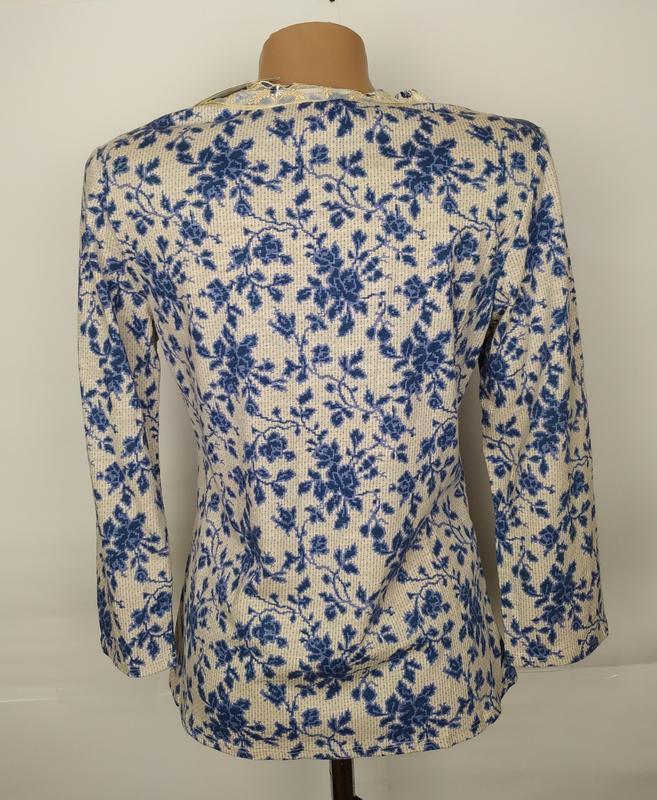 Блуза новая трикотажная в принт джерси laura ashley uk 12/40/m - Фото 5