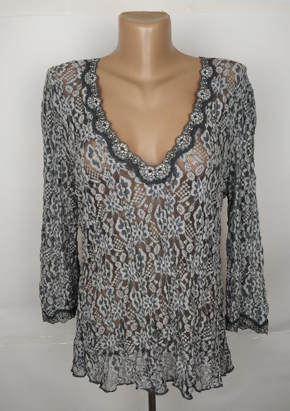 Блуза шикарная кружевная большой размер marks&spencer uk 18/46...