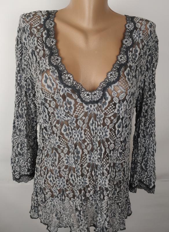 Блуза шикарная кружевная большой размер marks&spencer uk 18/46... - Фото 4