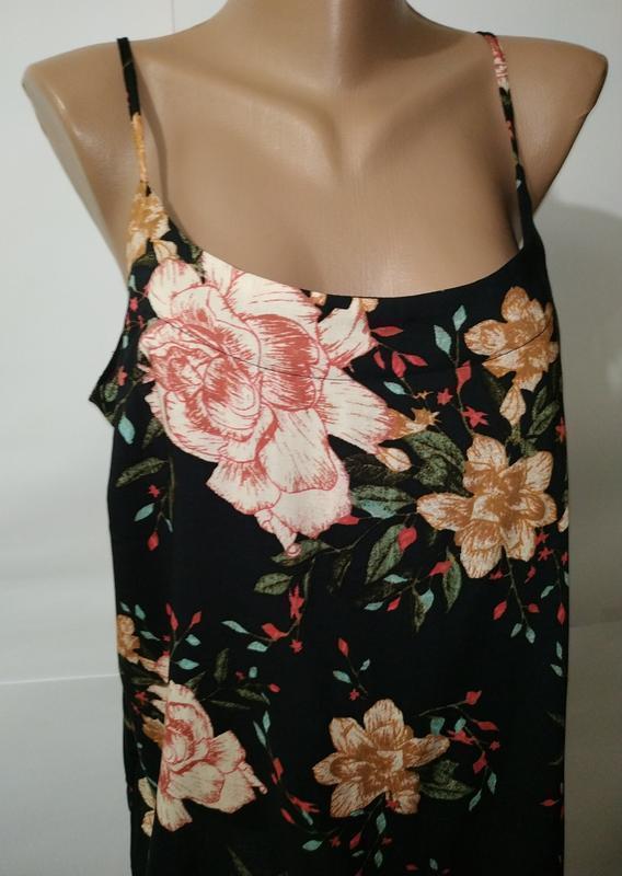 Блуза натуральная красивая в цветы vero moda штапиль - Фото 2
