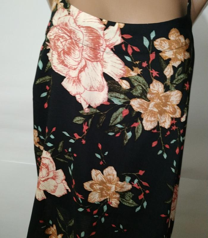 Блуза натуральная красивая в цветы vero moda штапиль - Фото 3
