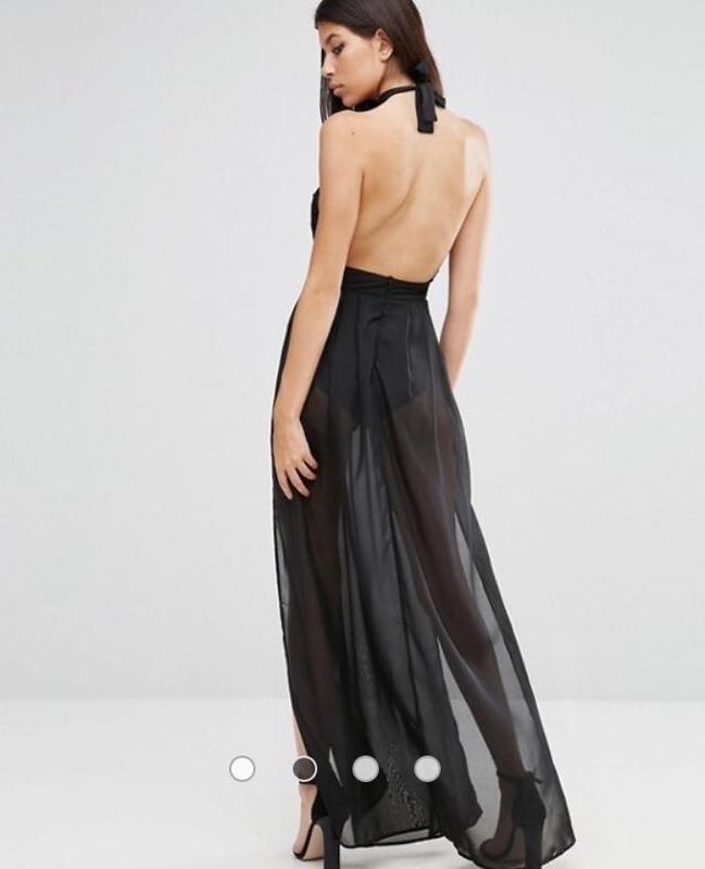 Соблазнительное платье макси с боди внутри р. 14-16 - Фото 3