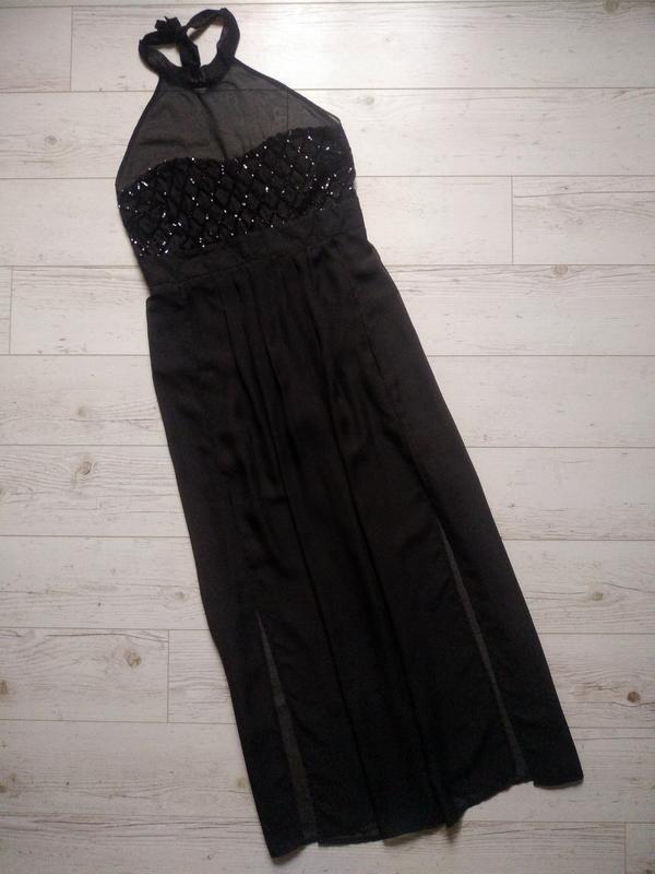 Соблазнительное платье макси с боди внутри р. 14-16 - Фото 4