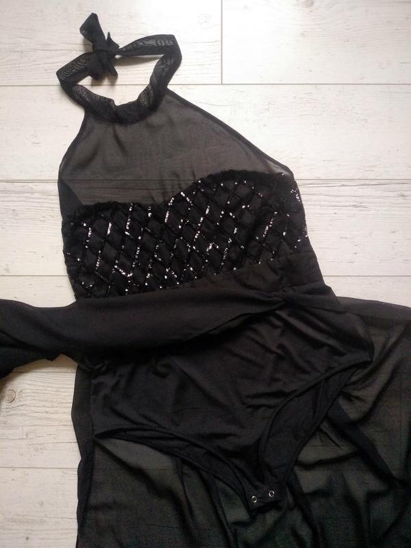 Соблазнительное платье макси с боди внутри р. 14-16 - Фото 8