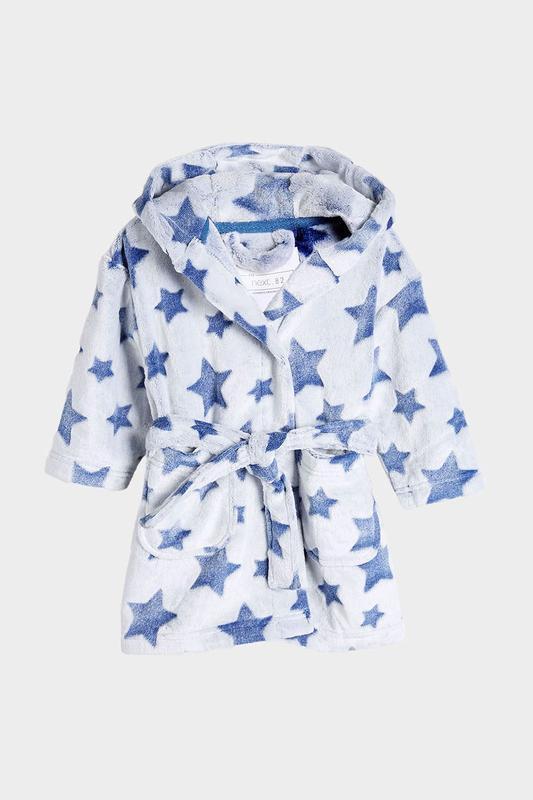 Махровый теплый халат для мальчика next, размер 5-6 лет