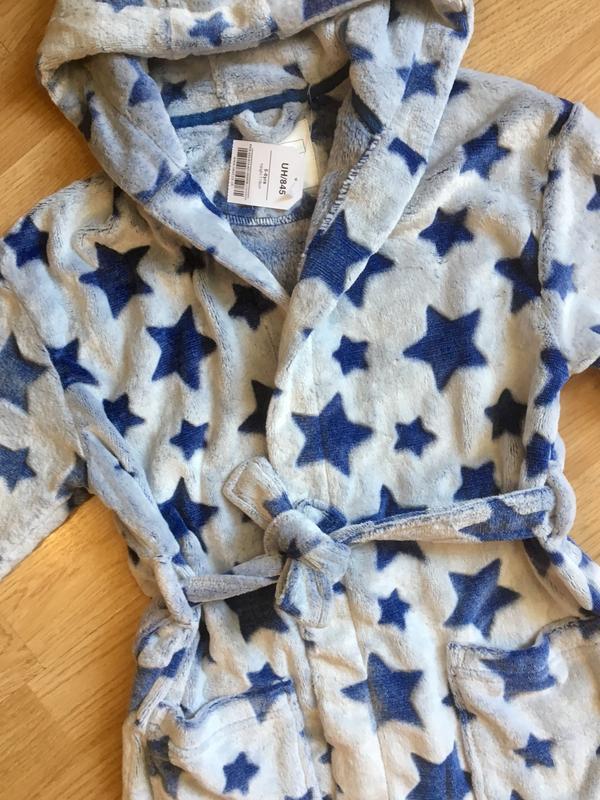 Махровый теплый халат для мальчика next, размер 5-6 лет - Фото 3