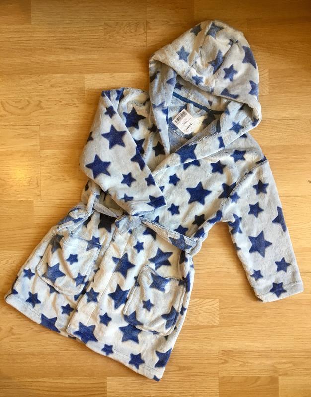 Махровый теплый халат для мальчика next, размер 5-6 лет - Фото 4