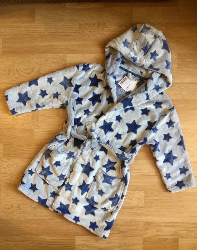 Махровый теплый халат для мальчика next, размер 5-6 лет - Фото 5