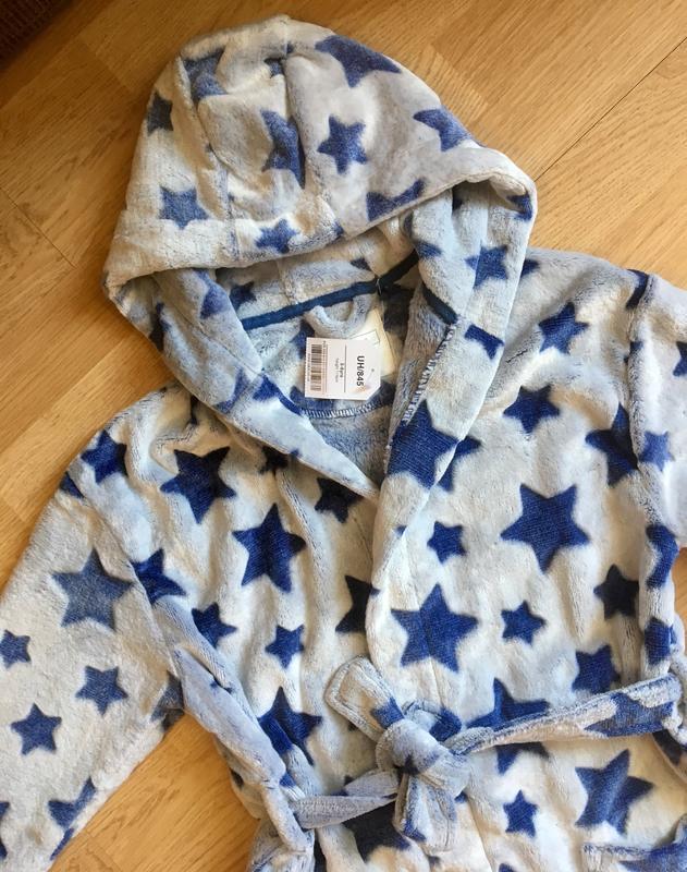 Махровый теплый халат для мальчика next, размер 5-6 лет - Фото 6