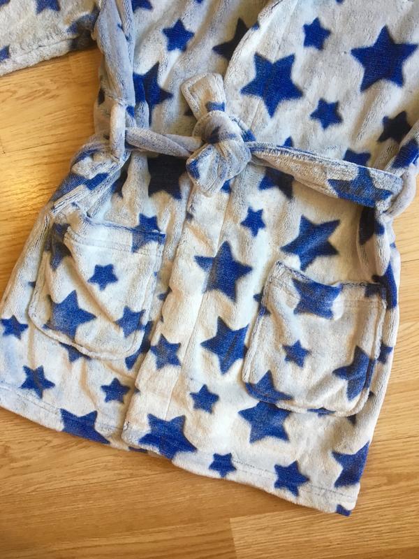 Махровый теплый халат для мальчика next, размер 5-6 лет - Фото 7