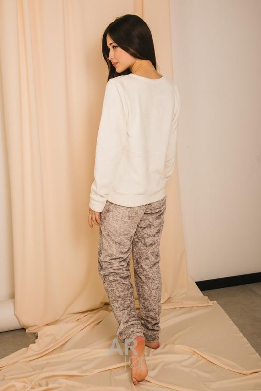 Пижама теплая махровая, мягкая и пушистая 16400 - Фото 3