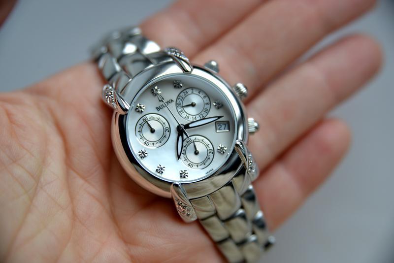 Бриллианты! женские часы хронограф с бриллиантами bulova, діам... - Фото 2