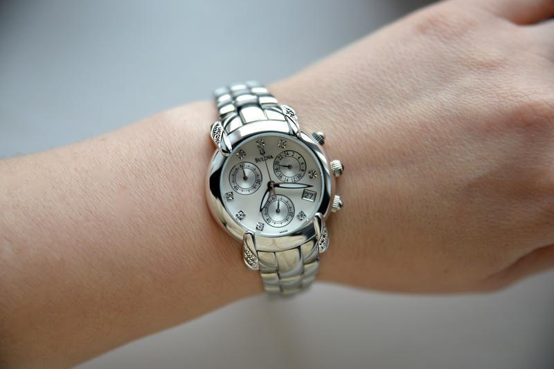 Бриллианты! женские часы хронограф с бриллиантами bulova, діам... - Фото 4