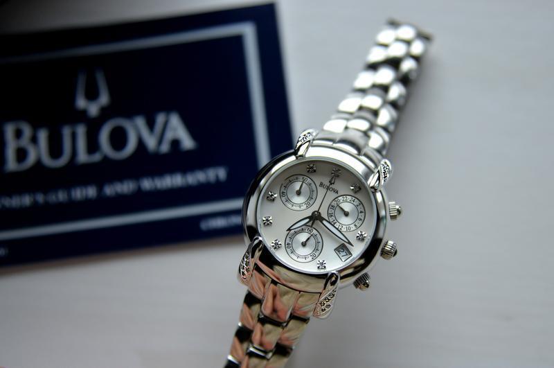 Бриллианты! женские часы хронограф с бриллиантами bulova, діам... - Фото 7
